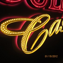 6s6 LED Bulb in Casino Sign