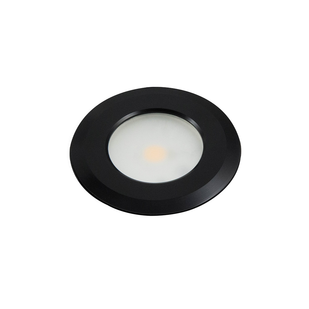 Powder Coated  Black LED Puck Light